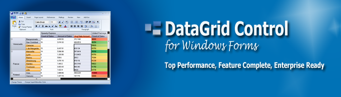 WinForms DataGrid Control, Windows Forms Grid Component, Advanced